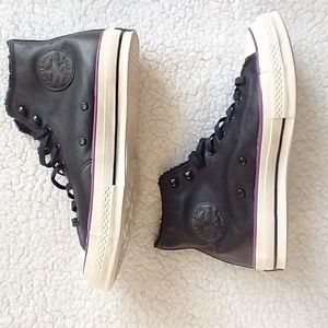 NWOT Chuck Taylor 70, leather high top Converse
